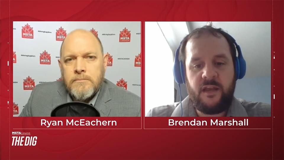Brendan Marshall from the Mining Association of Canada